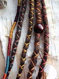 5 custom dreads hair wraps bohemian hippie dreadlocks