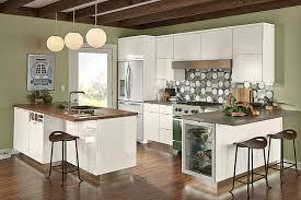 foil kitchen cabinets high gloss foil kitchen in dove white kraftmaid