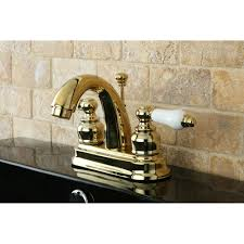Polished Brass Kitchen Faucet Kingston Brass Kb5612pl Restoration 4 Inch Centerset Lavatory