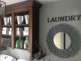 Laundry Room Wall Storage by Antique Hutch Top Repurposed As Laundry Room Wall Storage Love