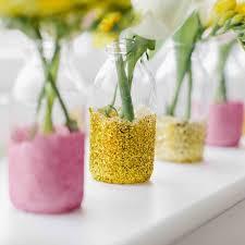 jar vases wedding diy jam jar glitter vases decorations plan your