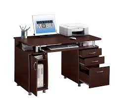 com techni mobili complete workstation computer desk with storage chocolate kitchen dining