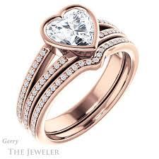 Heart Shaped Wedding Rings by Heart Shaped Forever Brilliant Moissanite Engagement Ring Gtj1214