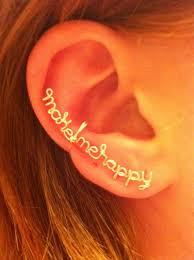 wire ear cuffs make me happy wire ear cuff by karmadia on deviantart