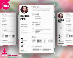 graphic resume templates designer cv template free psd freedownloadpsd