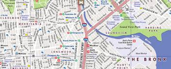 map of nyc streets bronx map by vandam bronx streetsmart map city maps of