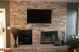 stone veneer fireplace surround ideas living room amazing faux