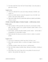 certified nursing assistant performance appraisal