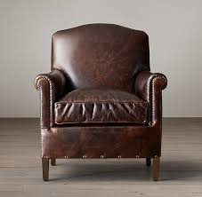 1920s french camelback leather club chair