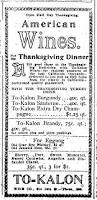 thanksgiving 1992 date thanksgiving cheer is assured when to kalon wines are served u201d the