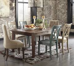 retro 5pc table and side chairs dining set by ashley furniture