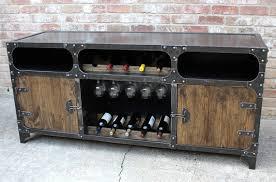 sideboard cabinet with wine storage modern industrial wine cabinet credenza bar storage liquor