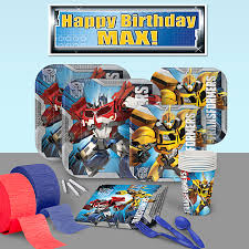 transformers party transformers birthday party supplies theme party packs