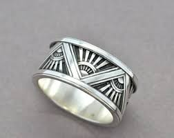 art deco mens ring etsy