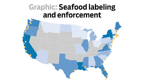 Map Of The United States With States Labeled by Seafood Labeling And Enforcement In The United States Baltimore Sun