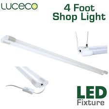 4 Foot Fluorescent Shop Light Fixture by Best Led Lighting For Home Garage Use U2013 Earthled Com