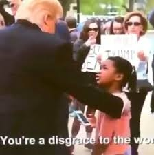 Fake Country Girl Meme - video of girl calling trump a disgrace is a fake