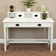 real wood office desk amazon com best choice products mission white solid wood writing