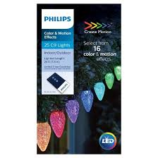 philips 25ct led 16 function faceted c9 string lights