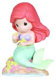 amazon precious moments disney ariel plucking petal