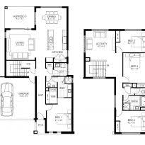 Double Story House Floor Plans Shiny 5 Bedroom House Plans 17 Alongside House Design Plan With 5