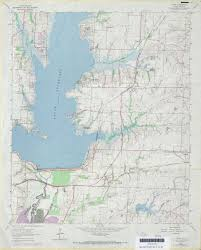 Old Texas Map Pre 1974 Lavon Map