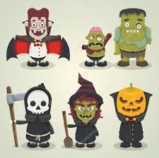 scary halloween characters u2014 stock vector bubufr 13692103