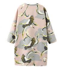 aliexpress com buy fashion animal crane bird print v neck loose