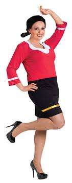 olive oyl costume popeye and olive oyl costumes thepartycostumesshop the