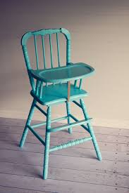 vintage aqua high chair painted high chairswood