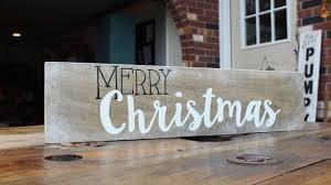 how to make a merry christmas decor sign diy home tutorial