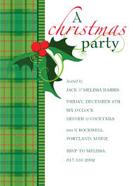 christmas cocktails invite elegant christmas party invitation card sample with green plaid