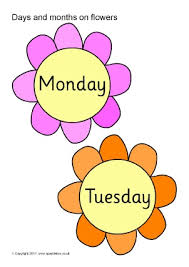 days and months vocabulary primary teaching resources and