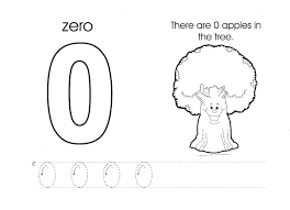 superb kids drawing coloring page 10 number zero worksheet