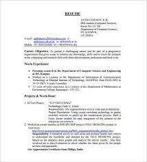 objective in resume for experienced software engineer resume ideas
