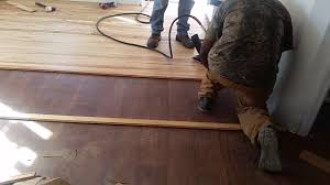 reclaimed hardwood floor installation