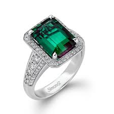 green engagement ring green engagement rings get the look