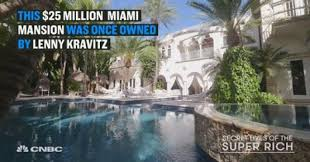 mansion global this 25 million miami mansion was once owned by rocker lenny kravitz