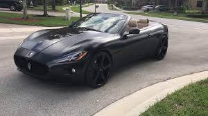 maserati gt sport black for sale satin matte black maserati granturismo wrapped with 24