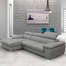 Leather Sofa Beds Uk Sale Nicoletti Lipari Grey Italian Leather Sofa Chaise Left Facing