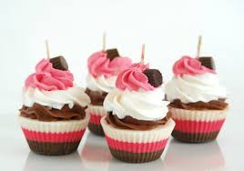cupcake candles cupcake candles birthday gift pink white and brown