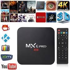 android dlna mxg pro 4k tv box set top box smart tv box amlogic s905x