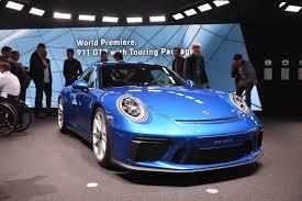 porsche 911 gt iaa frankfurt 2017 porsche 911 gt3 touring package gtspirit