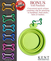 kent home essentials collapsible pet travel food water bowl