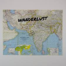 Sw Asia Map by Wanderlust Asia Travel Quote Vintage Map Art India U2013 The Rivertown