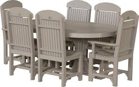 Luxcraft Outdoor Furniture by Luxcraft Captain Chair Oval Dining Set From Dutchcrafters Amish