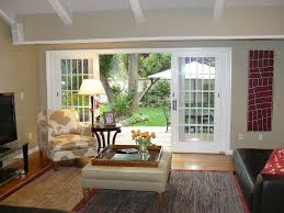 Transitional Living Rooms by Living Room With French Doors U0026 Exposed Beam In Mill Valley Ca