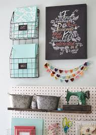 Craft Room Office - a craft room office pegboard gallery wall with video tour the