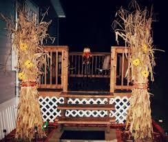Outside Fall Decor Corn Stalks Fodder Shock
