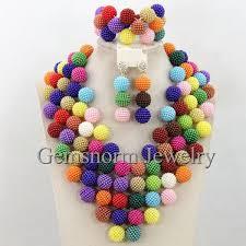 colorful wedding bridesmaid jewelry set